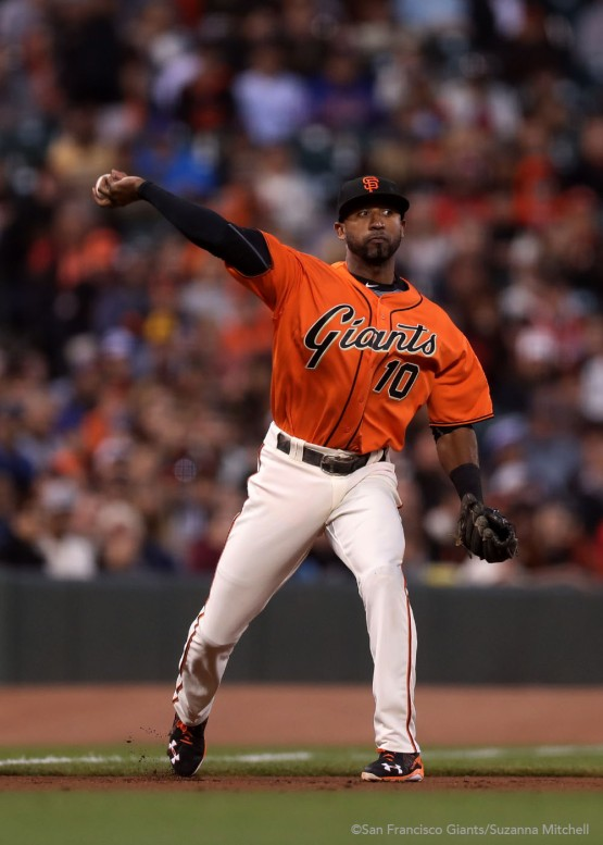 Eduardo Nunez throws out Seth Lugo