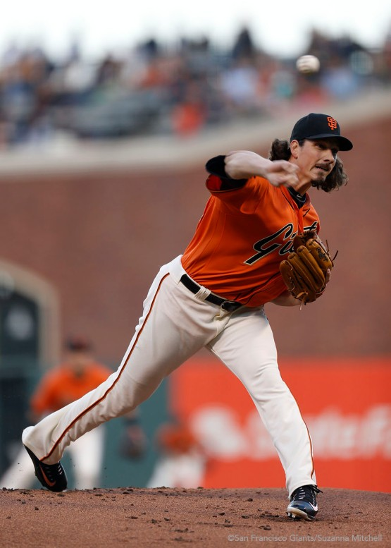 Jeff Samardzija pitched seven shutout innings.