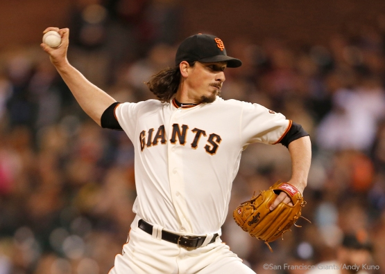Jeff Samardzija pitched through six innings.