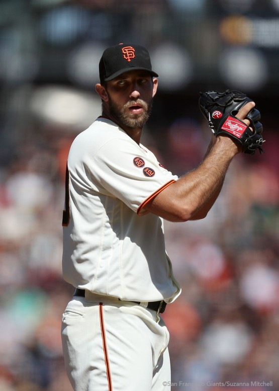 Madison Bumgarner pitched six and two thirds innings.
