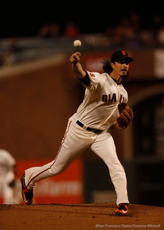 Jeff Samardzija struck out a career high eleven batters.