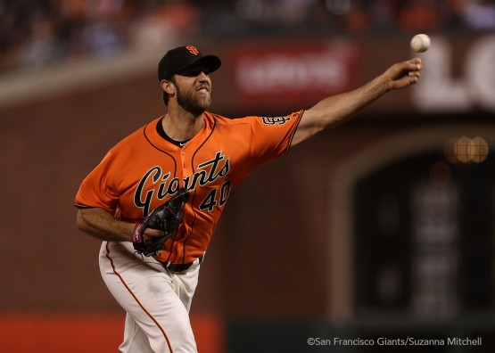 Madison Bumgarner recorded his 100th career win.