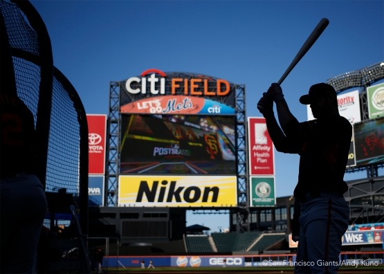 The Giants worked out at Citi Field today in preparation of the Wild Card game tomorrow.