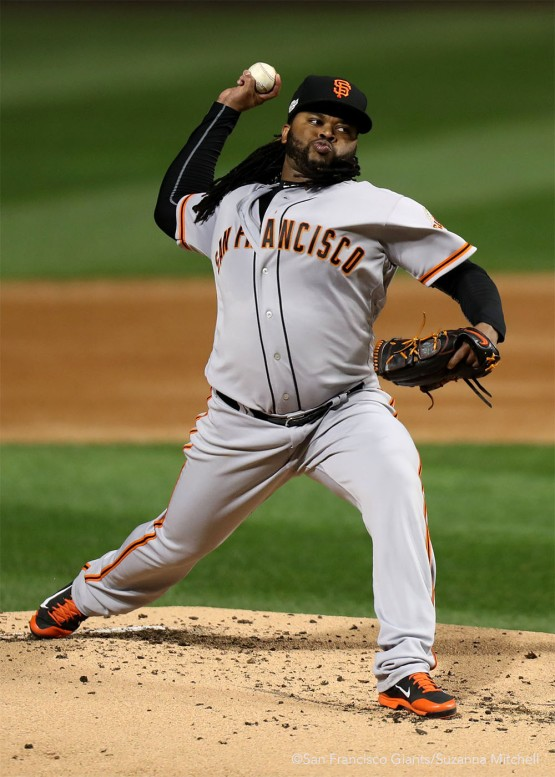 Johnny Cueto pitched eighth innings.