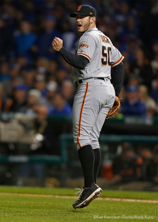 Ty Blach pitched the fifth and sixth innings.
